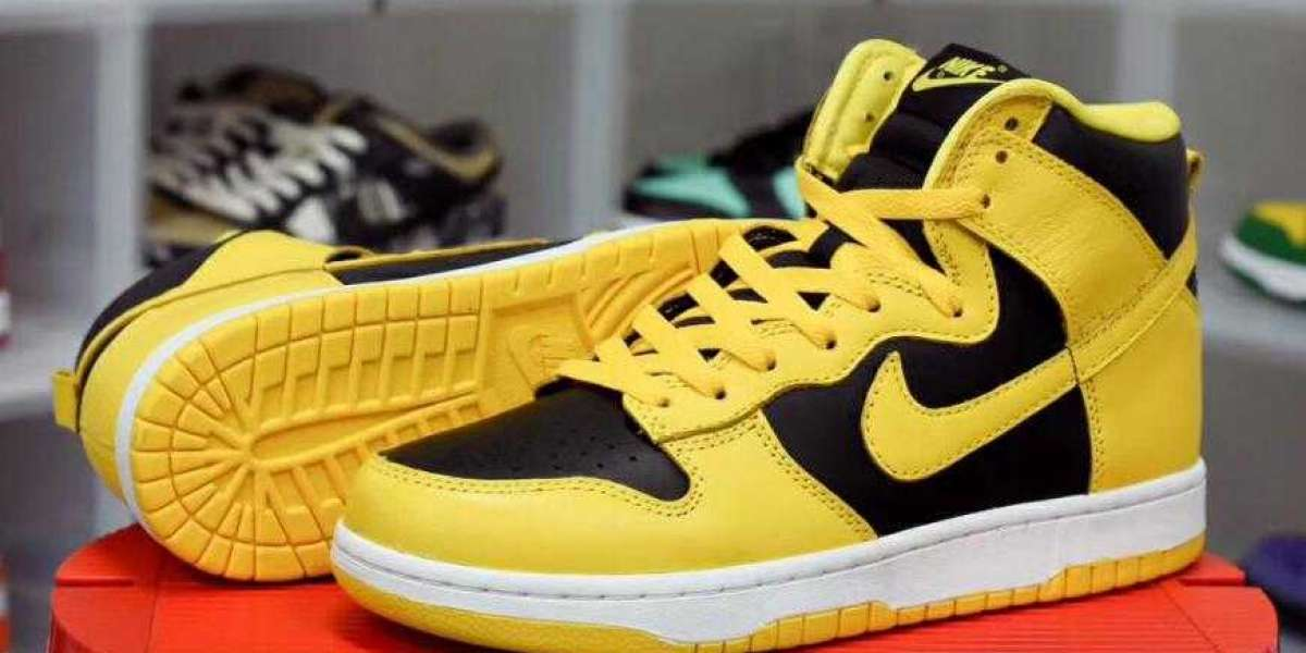 Where to Buy New Nike Dunk High Black Varsity Maize Shoes ?